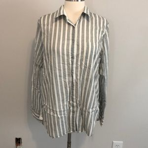 JCrew Printed Button Down Shirt Size L